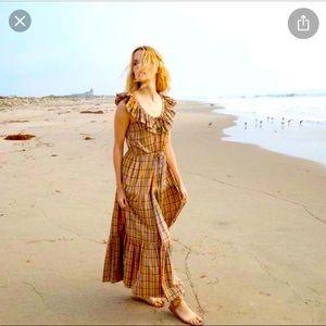 Doen Yarrow Dress in Rainbow Plaid, M